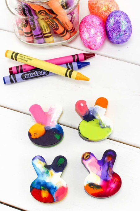 How To Recycle Crayons Easter Bunny Style Tutorial · The Inspiration Edit