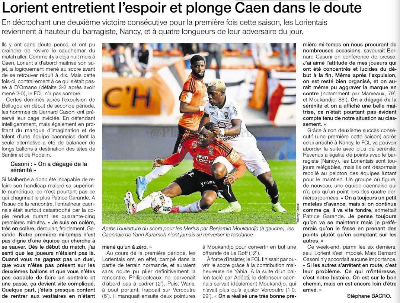 [31e journée de L1] FC Lorient 1-0 SM Caen - Page 2 C8eFiihWsAE9kNj