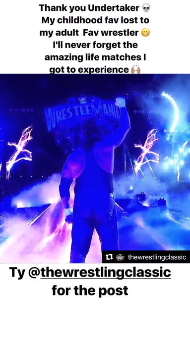 #Undertaker #WrestleMania 💀😞 https://t.co/k6HNe9Pekh