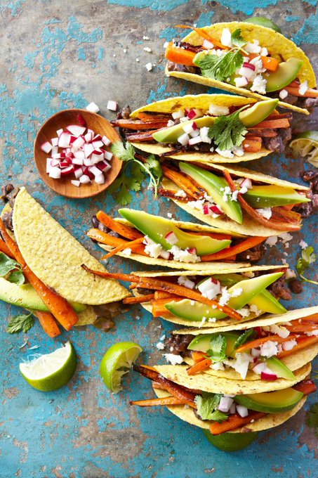Carrot-and-Black Bean Crispy Tacos