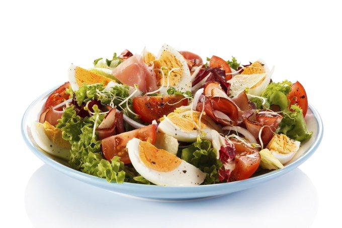 Ham & Egg Summer Salad