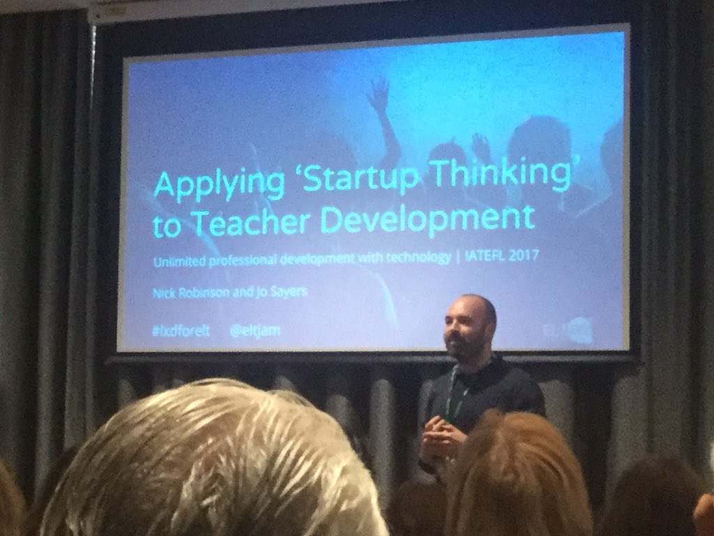 @nmkrobinson beginning the 1st plenary of the day - start up thinking applied to the design of TD programmes #LTTD https://t.co/MAVLEh4XSO
