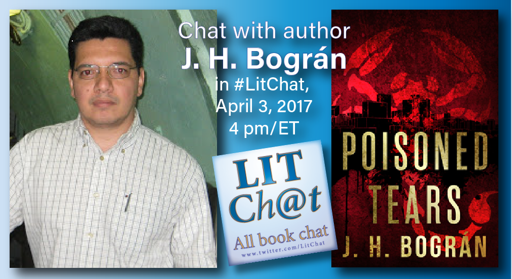 We're talking thrillers today in #LitChat with novelist @JHBogran at 4pmET. https://t.co/251OgkskbJ https://t.co/GFFZ4oHWWY