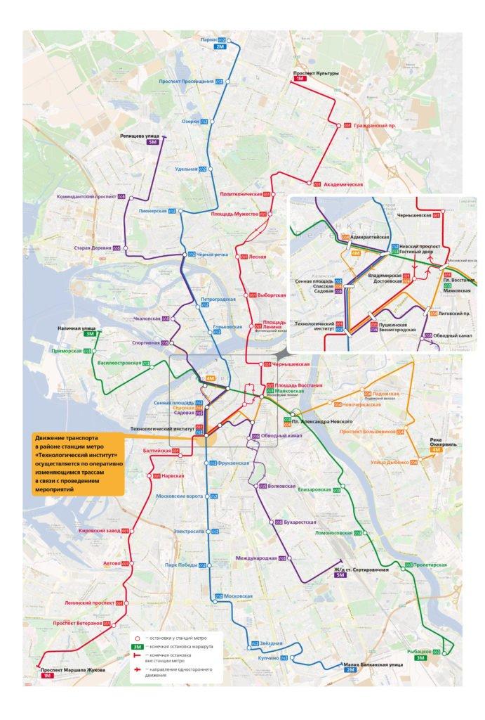 Схема метро спб