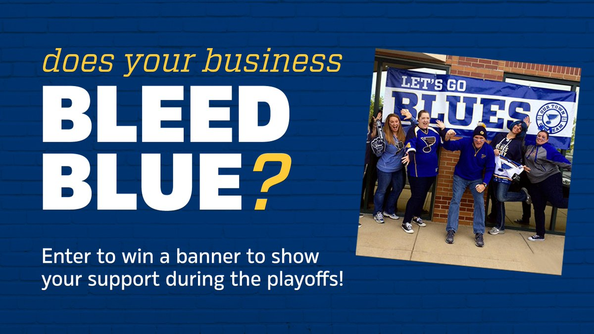 Image result for st. louis blues banner on business