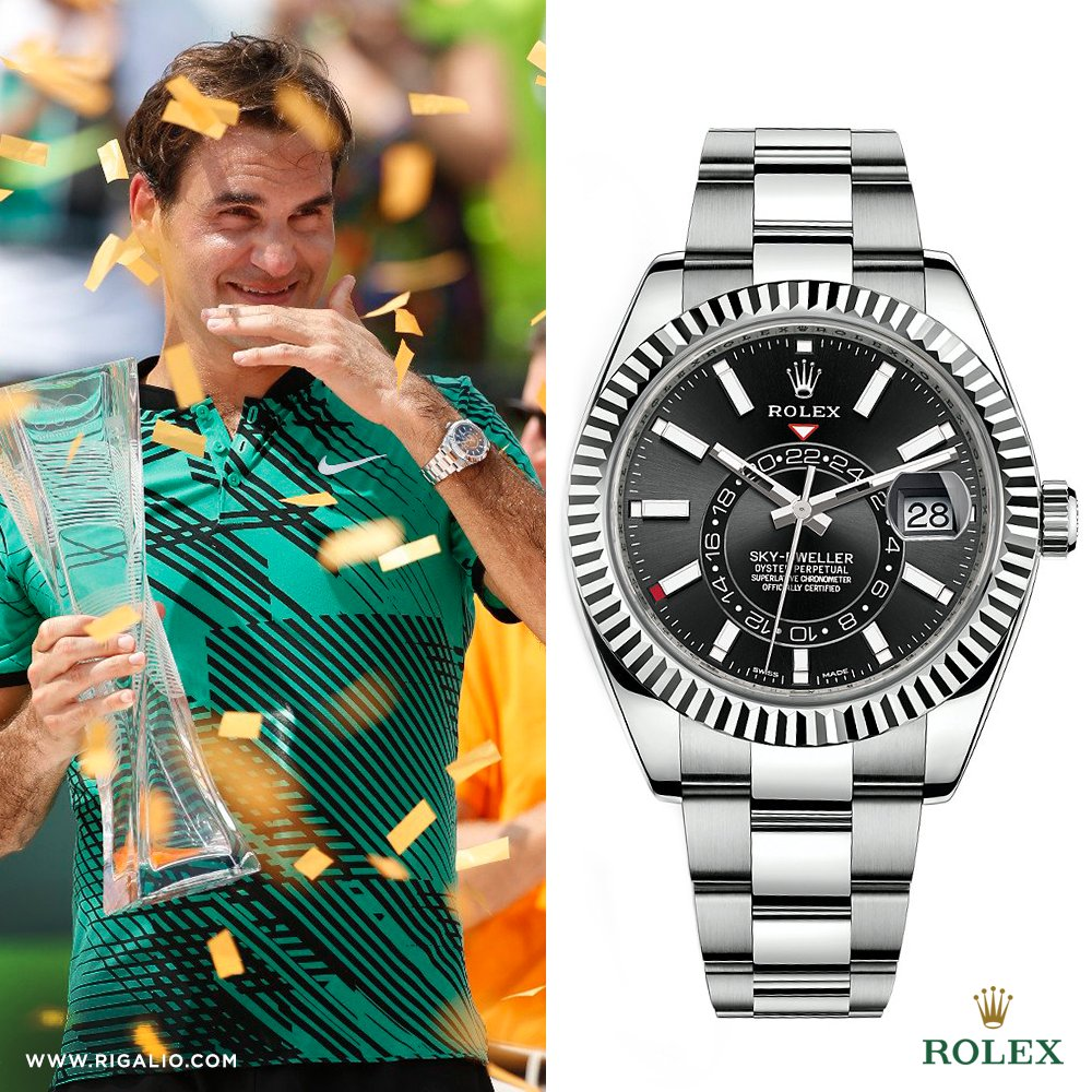 Rigalio On Twitter Tennis Legend Rogerfederer And His Rolex
