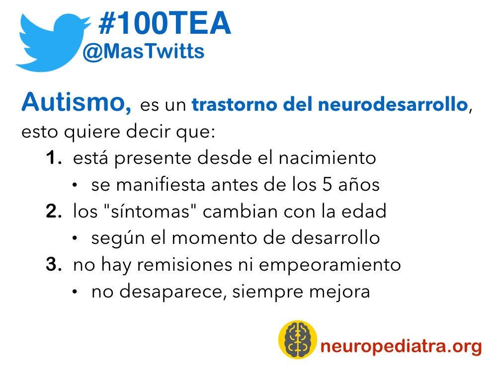 9 Entonces, ¿qué es el #autismo? Un trastorno del neurodesarrollo y eso significa que... ¡mira la foto! #100TEA https://t.co/dvPfnDXl2O