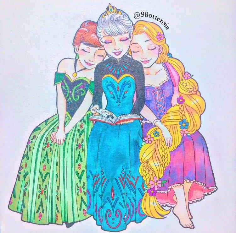 Kazane Ar Twitter エルサの読み聞かせ エルサとアナは戴冠式の