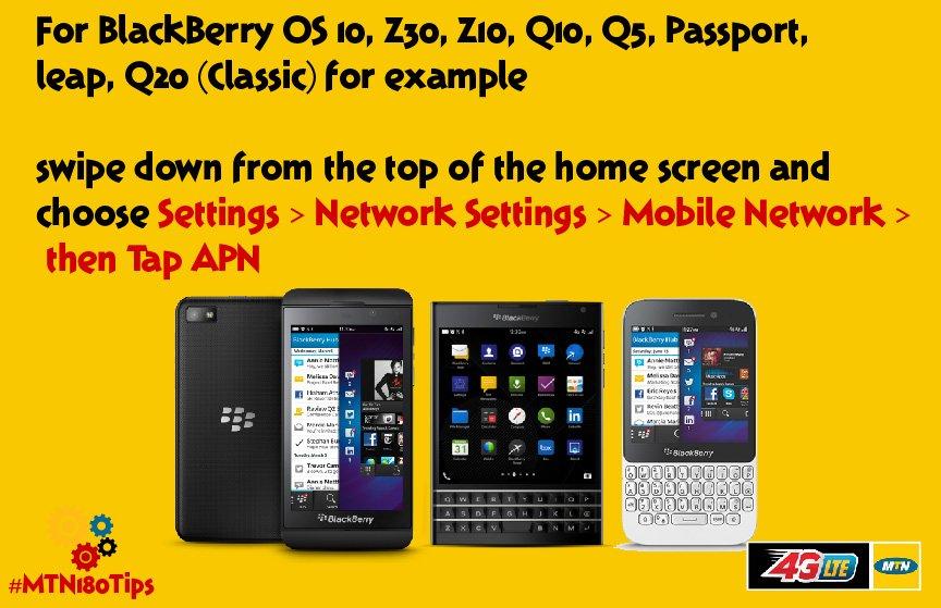 Blackberry Internet Settings