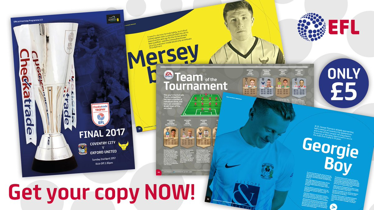 Forget to pick up your #CheckatradeTrophy Final programme? 📚  Get your...