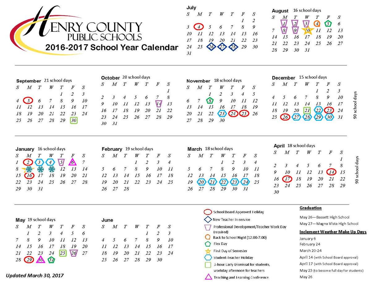 Henry County School Calendar.Henry County Schools On Twitter We Ve Had A Mild Winter Have
