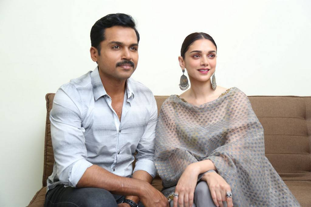 Image result for Despite not knowing the language, Aditi was ready with all her dialogues: Karthi
