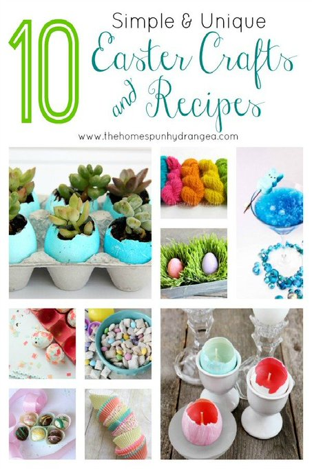 10 Simple and Unique Easter Crafts and Recipes