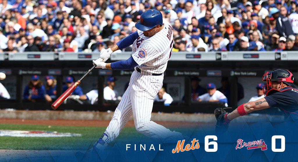 IT'S OVER! Game No. 1 in the books. #MetsWIN
