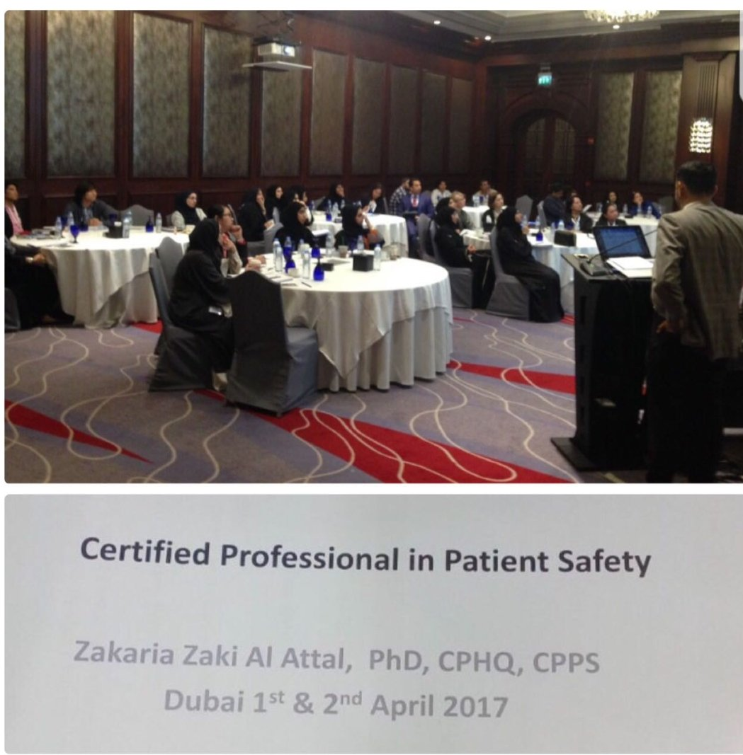 Dr Zakaria Alattal On Twitter Patient Safety Certification