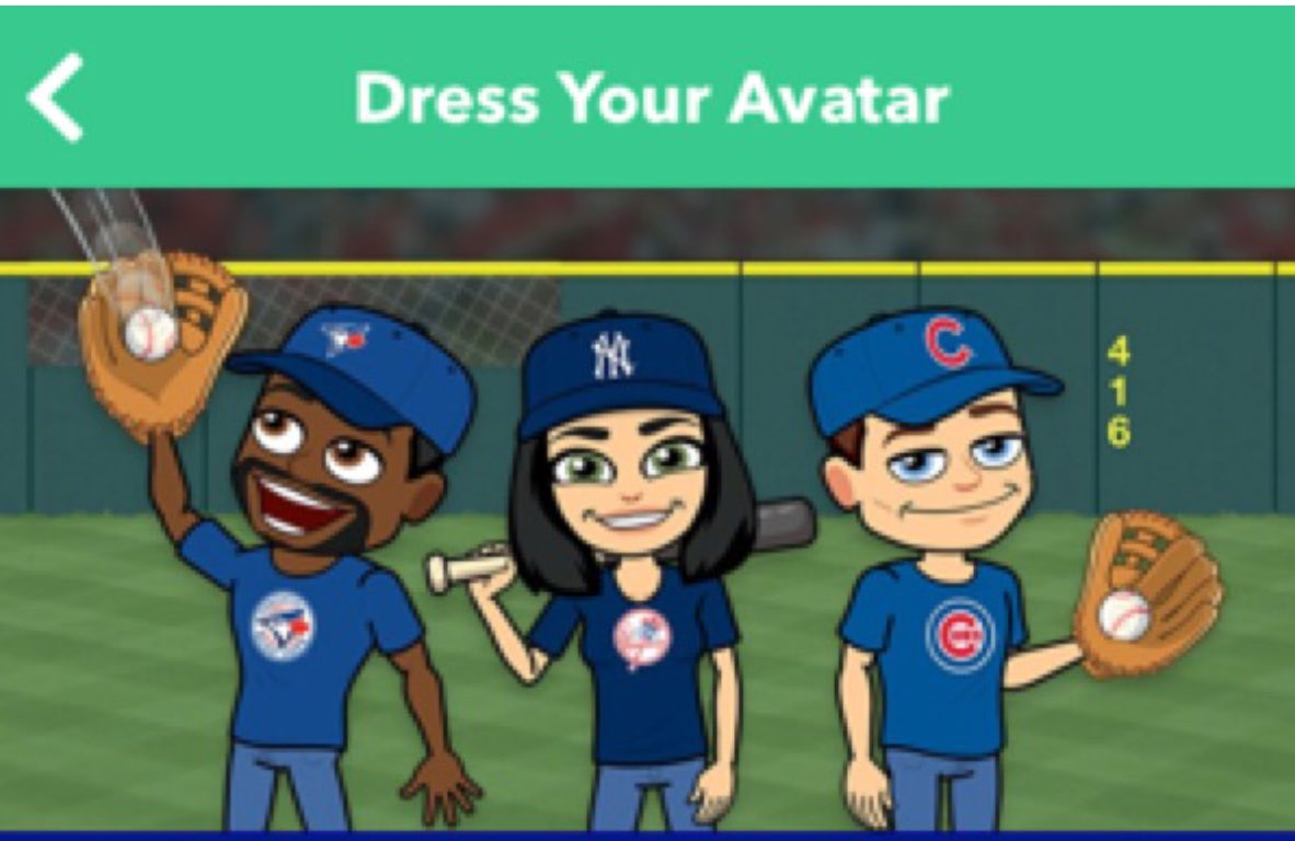 Bitmoji MLB team gear avatars   Darren Rovell   Scoopnest