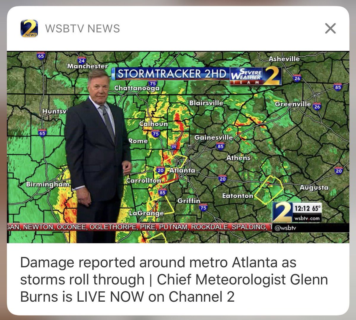 Download the wsb-tv news app to get breaking news & severe weather