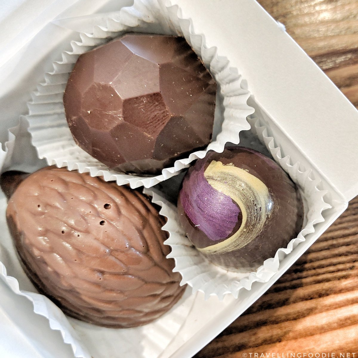 Savour Stratford Chocolate Trail: Chocolate Barr's Candies - icewine, lavender and hazelnut truffles