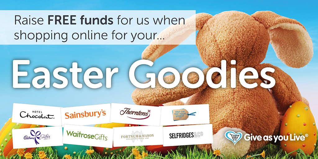 Buy your loved one a sweet treat this #Easter & raise free funds for us via @GiveasyouLive https://t.co/Z79jisTJG4 https://t.co/Ewbvp10ux8