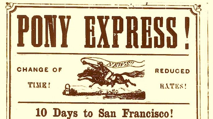 Image result for Pony Express debuts 1860 images