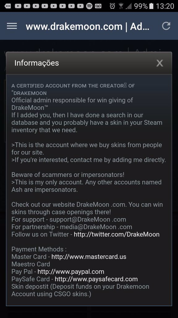 drakemoon on twitter tweet your experience with scammers in the