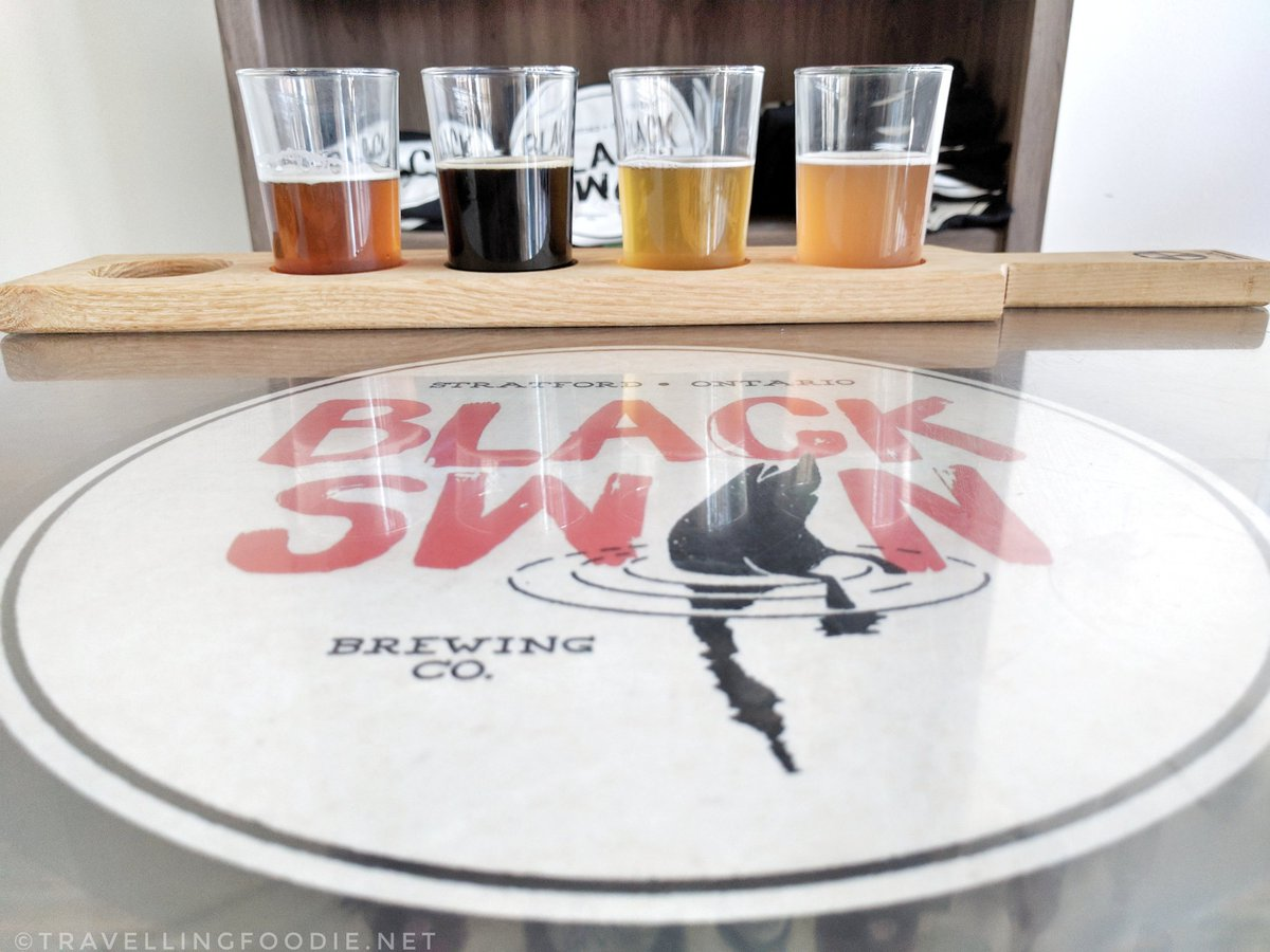 Savour Stratford Bacon & Ale Trail: Black Swan Brewing Co. - mini tasting flight