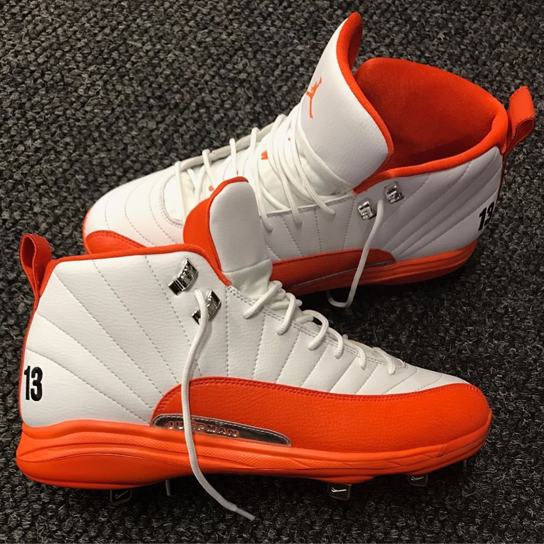 2c8b4e7ec3e Skittles on the insoles of manny machado s air jordan 12 pe cleats for   openingday