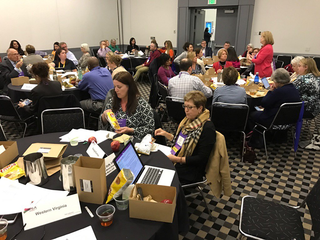 Region 2 - the BEST Region- is ROCKing in its Council Meeting with a great turnout! @alaregion2 #ALAConf17 @ALABuzz https://t.co/k5lMNHH6zt