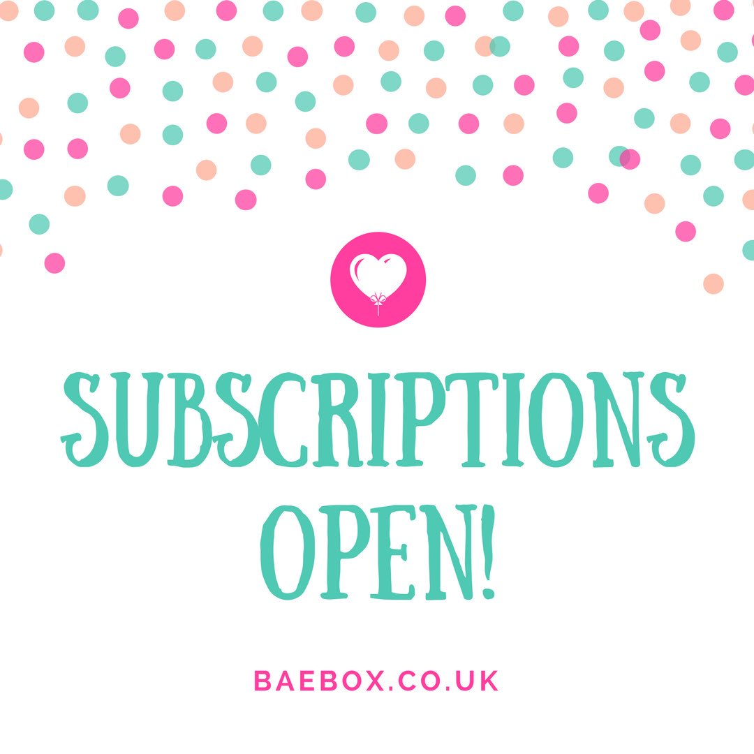 Baebox on twitter subscriptions are now open for aprils box be sure to look out for our registered trademark symbol for a genuine baebox httpst7gibdyfcee biocorpaavc Gallery