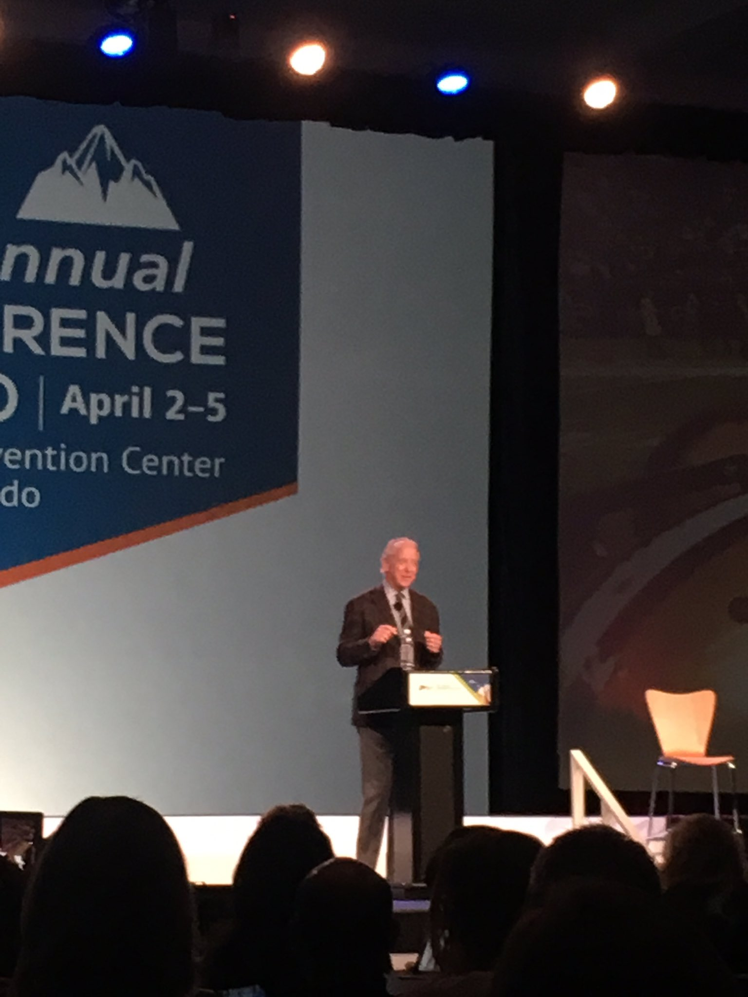 We got to hear Archie Manning give a keynote presentation this morning on leadership! #ALAConf17 https://t.co/PHqnLoNJ0h