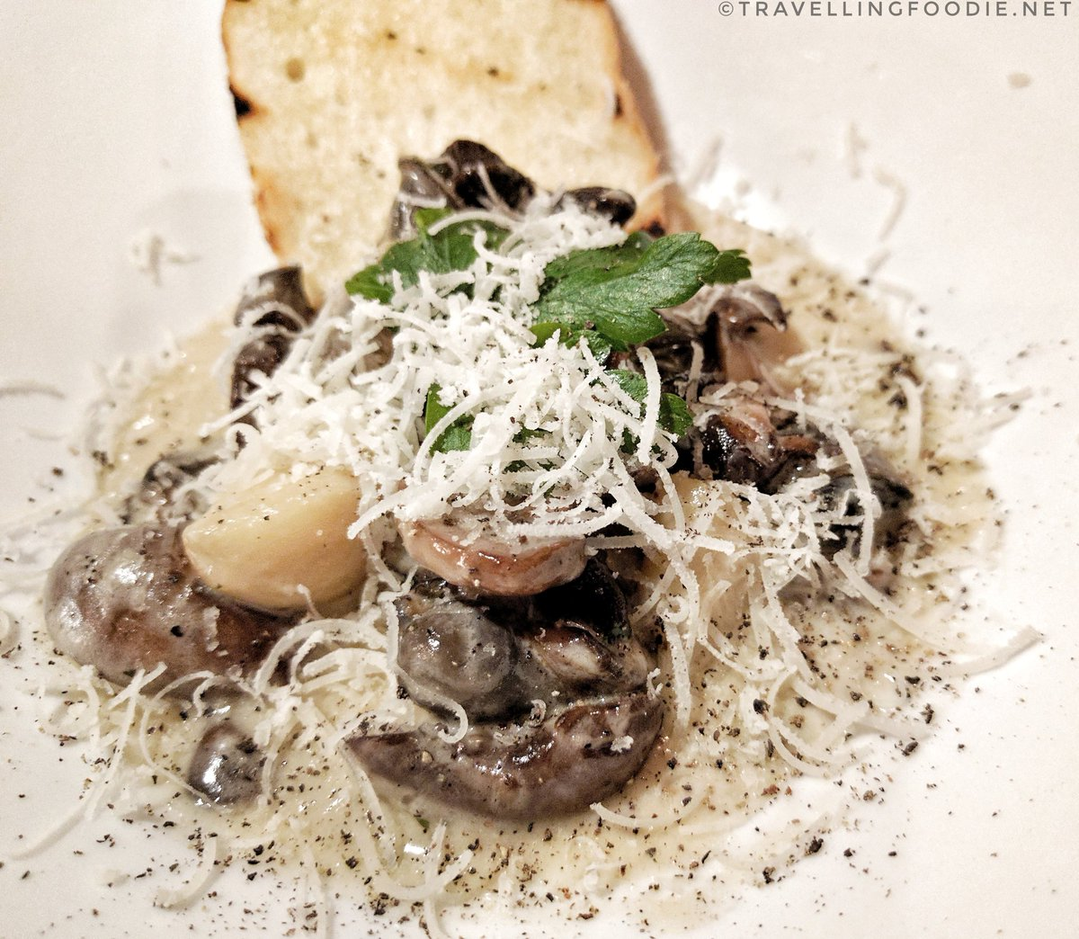 Escargot & Mushrooms at Fellini's, Stratford, Ontario