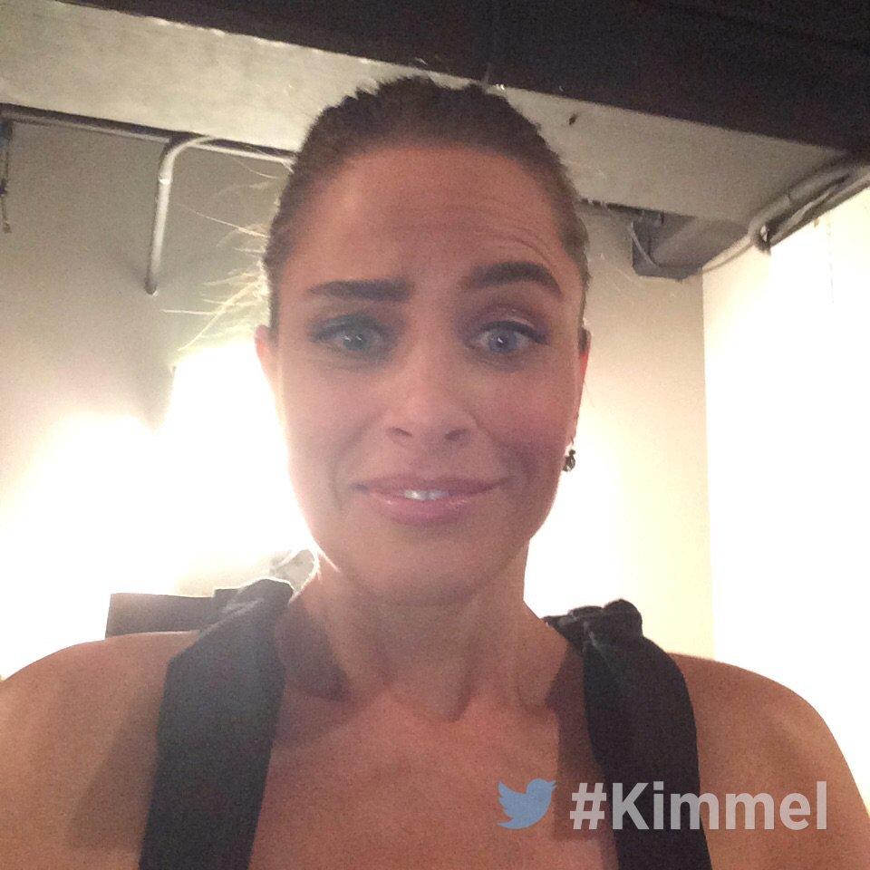 Amanda Peet Hot Pictures amanda peet : backstage kimmel amanda peet brockmire | jimmy