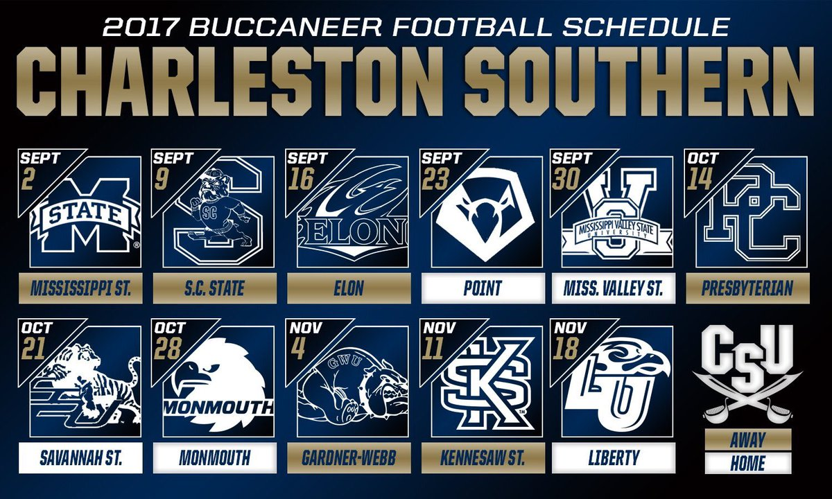 Charleston Southern Football On Twitter Our 2017 Schedule Is Hot