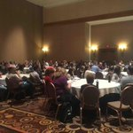 Great turnout for our joint session this morning with @GoldbergerPaul from Silgan Containers #C17LV #JDETraining