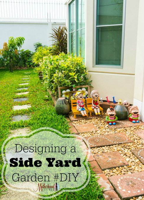 Designing a Side Yard Garden #DIY