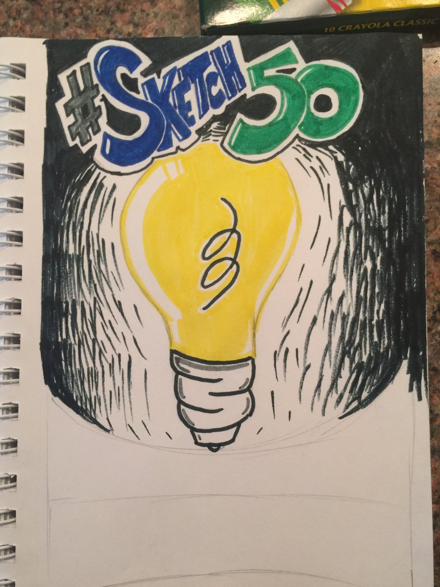 @NavarroMiddle Introducing art students to #sketch50  tomorrow.  1. Lightbulb...communication! https://t.co/iwQkV3wjfP
