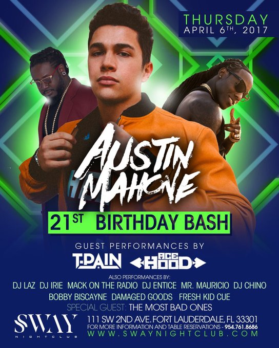 Happy 21th birthday to Austin Mahone~~~