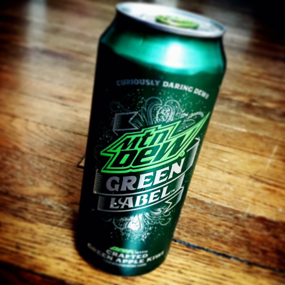 drink what on twitter mtn dew green label crafted with green apple