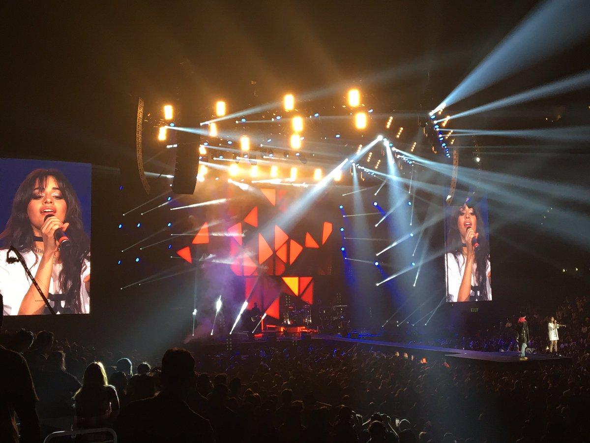 .@camilacabello97 performing with @machinegunkelly #zedd @Zedd