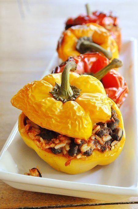 Vegetarian Stuffed Peppers — Living Lou
