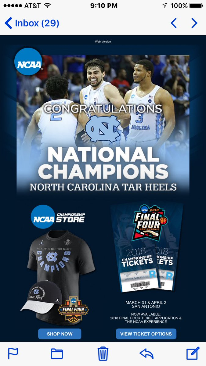 Doesn't take the NCAA long to offer up merchandise for sale...kinda looks like player image and likeness, huh? Congrats and cha-ching!