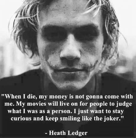 Happy 38th Birthday to the late, great Perth lad, Heath Ledger.  Gone to soon
