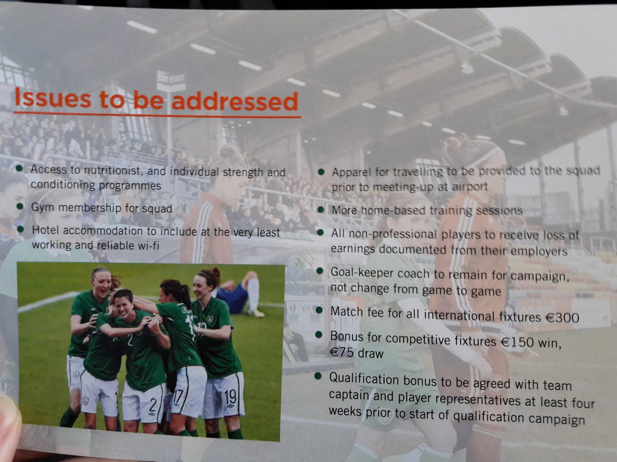 tuntutan protes timnas wanita republik irlandia