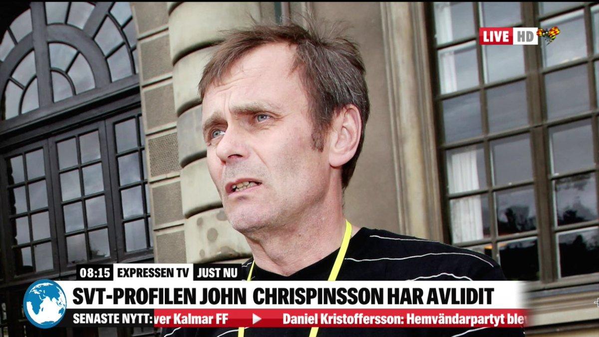 En tv-legend har gått ur tiden. Respekt! Vi minns John Chrispinsson här: http://www.expressen.se/tv/nyheter/live/live-tv-morgonstudion-pa-expressen-tv/…
