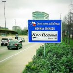 Kidd Roofing's new sign in Dallas!