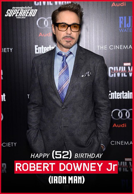 HAPPY BIRTHDAY      Robert Downey Jr.    52