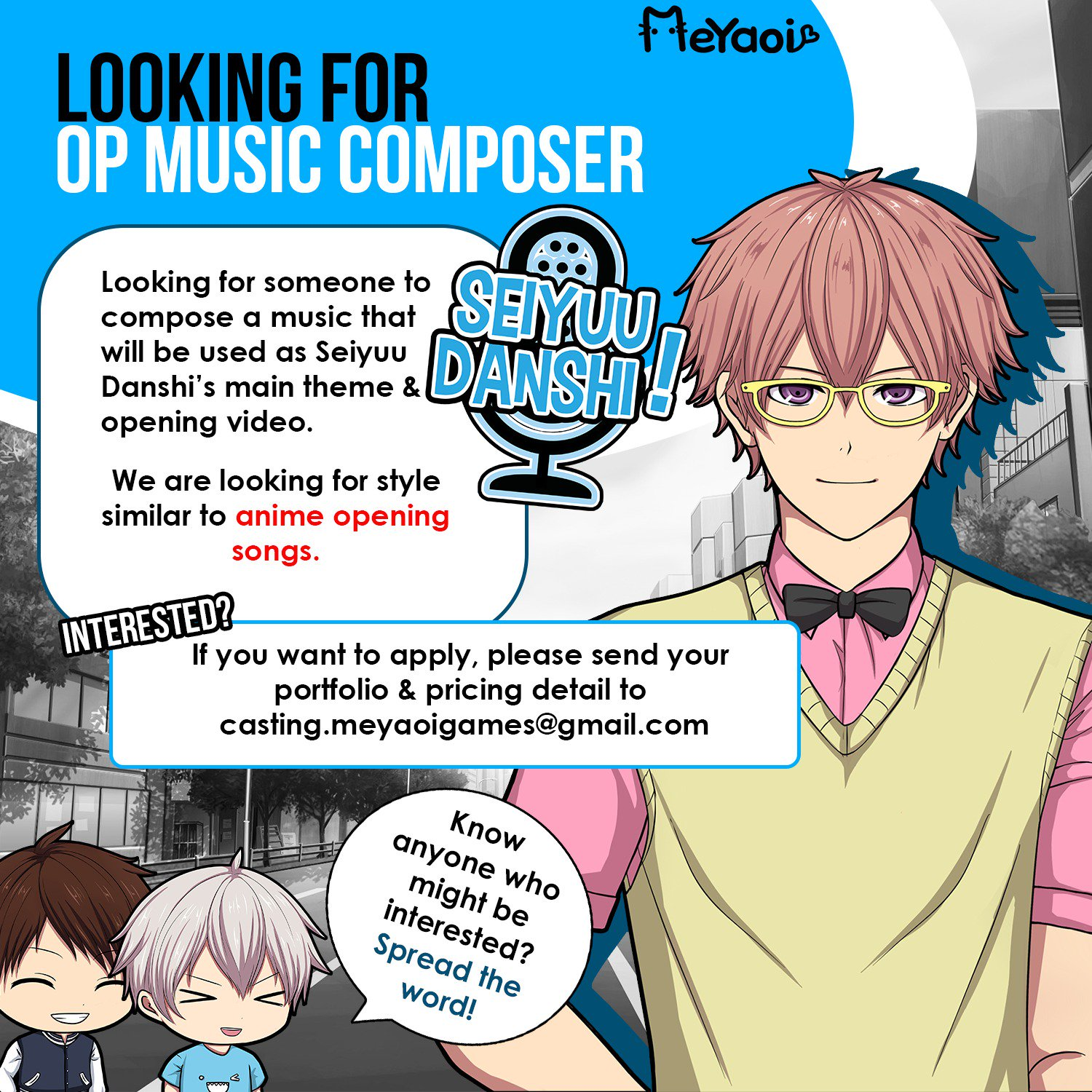 Gmail theme anime - Meyaoi On Twitter Pls Help Rt Looking For Op Music Composer In Style Similar To A Japanese Anime Soundtrack E Mail To Casting Meyaoigames Gmail Com