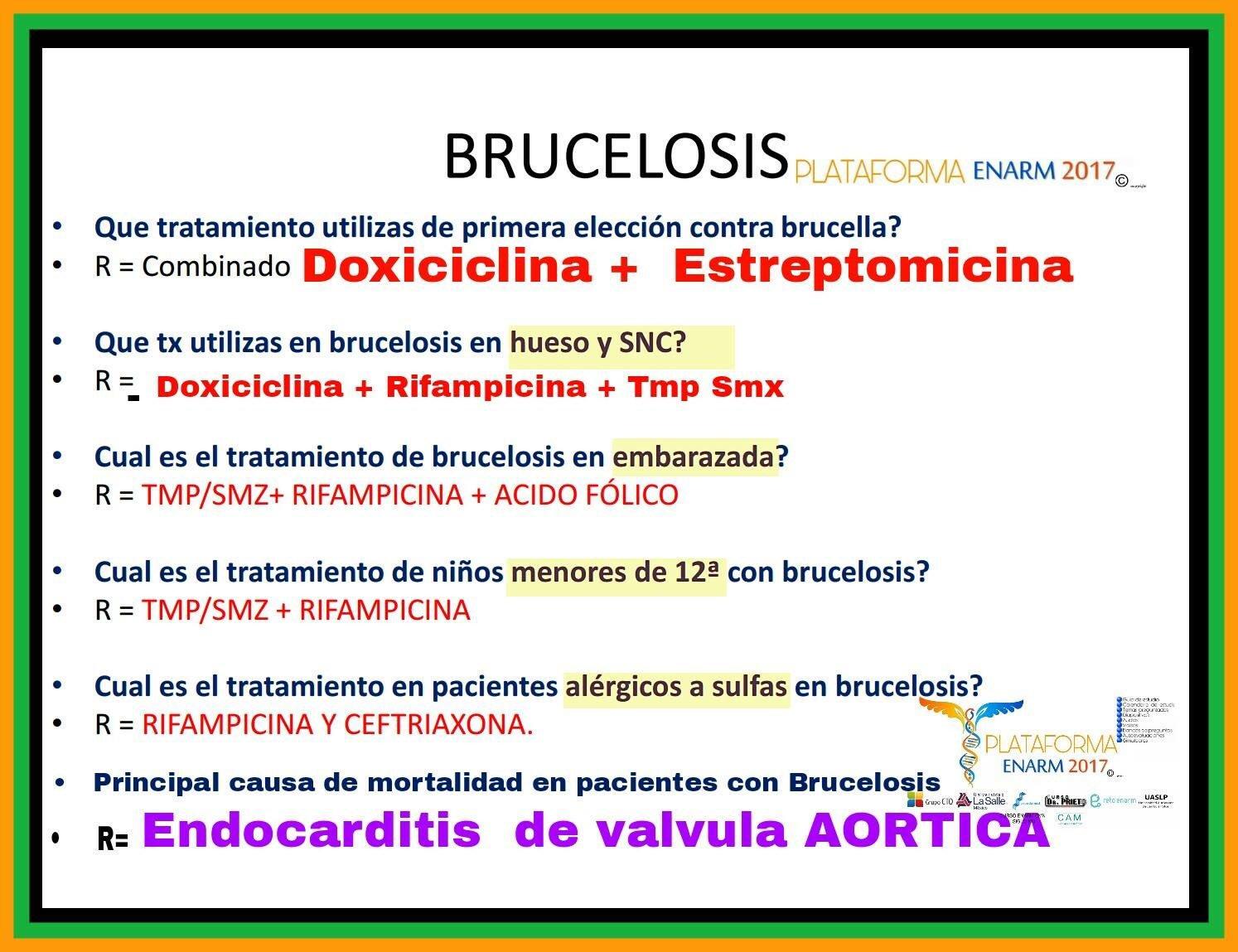 Adrian Torres Prado On Twitter Brucelosis Que Es La Brucella Cual Es La Triada Tipica De Brucelosis Diagnostico Tratamiento Complicaciones Mortales Enarm2017 Https T Co Zpqzweaaph