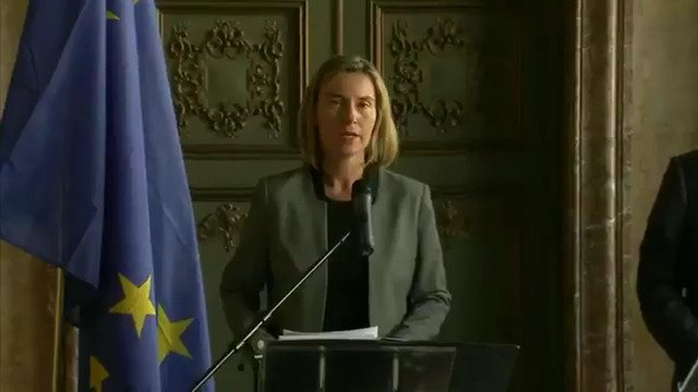 Mogherini: Presenting to the press the results of our meeting with the Syria civil society at #syriaconf2017 #futureofsyria