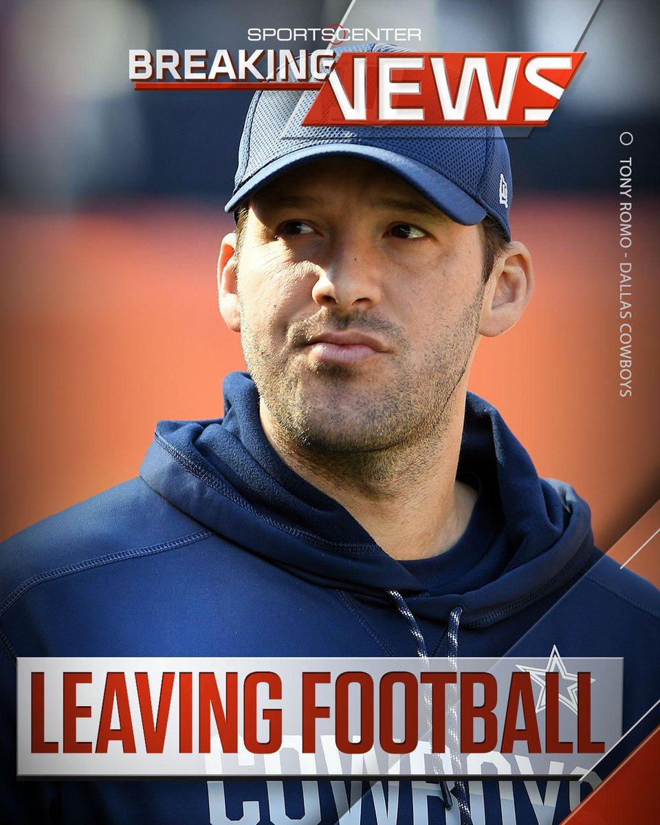 Breaking: Cowboys QB Tony Romo is leaving football and going into broadcasting, sources tell @AdamSchefter and @toddarcher.